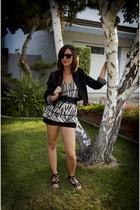 Forever21 jacket - Forever21 shorts - Forever21 shoes - Forever21 sunglasses - F