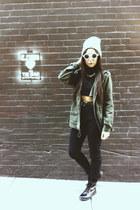 parka Charlotte Russe jacket - combat boots Topshop boots