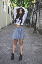 crop top Topshop blouse - ankle booties Forever 21 boots