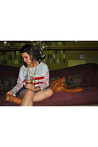red Forever 21 top - blue obey shorts - orange Forever 21 shoes - orange Nordstr