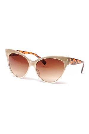 gold cat eyes 80s sunglasses
