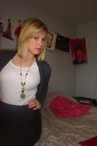 wilfred sweater - joe fresh style t-shirt - Talula skirt - necklace