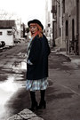 Black-little-mistress-boots-black-plaid-bebe-coat-black-felt-forever-21-hat
