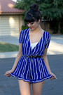 Gold-micha-store-necklace-blue-stripes-wholesale-buying-romper