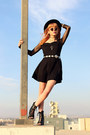 Black-skater-gypsy-warrior-dress-black-felt-hat