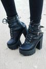 Black-buckle-zaful-boots-black-cat-eye-wear-me-pro-glasses