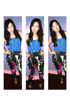 no brand pants - Forever 21oreve top - gliiter macy heels