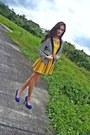 Dress-striped-blazer-parisian-shoes-pumps