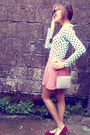 Light-blue-polka-dots-forever-21-top-bubble-gum-pleated-skirt