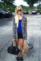 Loft sweater - Forever 21 shirt - linea pelle purse - Express shorts - Forever 2