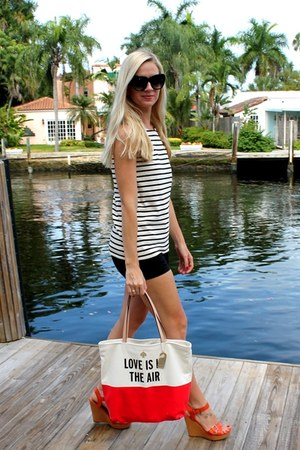 Loft top - kate spade bag