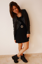 H&M dress - vintage jacket - DCCO boots - Madrid accessories