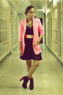 Black-h-m-dress-hot-pink-neon-paint-me-colourful-blazer