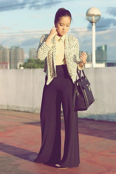 black Venetia bag - eggshell leopard print SM GTW blazer