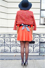 Red-a-line-aline-h-m-dress-red-tweed-forever-21-jacket