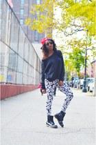 Reebok hat - Ecko Unltd Canada sweater - Baddazz Clothing leggings