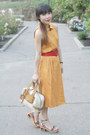 Light-orange-morgan-taylor-dress-beige-chloe-bag