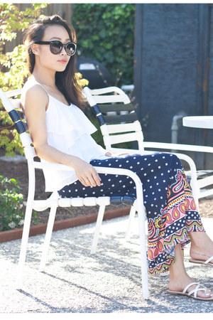 white olsenboye top - navy olsenboye skirt