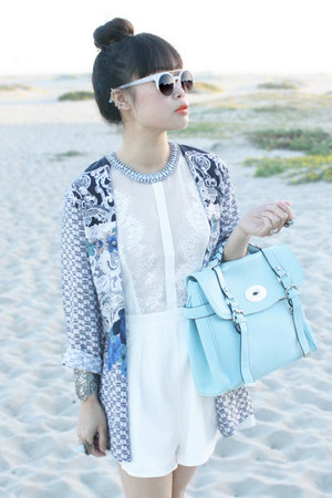 light blue nissa blazer - white sunglasses zeroUV sunglasses
