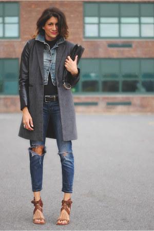 f21 jacket - jeans - Chloe heels