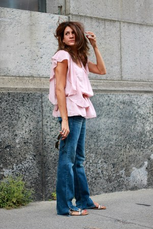 light pink thrifted top