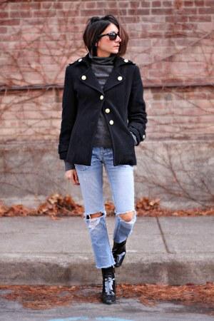 black military vintage coat