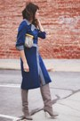 Heather-gray-brian-atwood-boots-blue-2-piece-vintage-suit