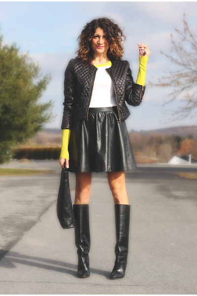 Manolo Blahnik boots - black Forever 21 jacket