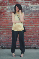 vintage shirt - black vintage pants