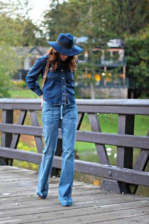 navy denim vintage shirt - navy citizens of humanity jeans
