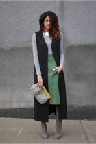 jess rizzuti bag - heather gray brian atwood boots - thrifted skirt