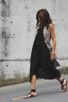 black Alexander Wang dress - tan banana republic dress
