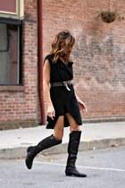 black Vince Camuto boots - black Jones NY vest