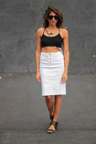 vintage skirt - PERSUNMALL top
