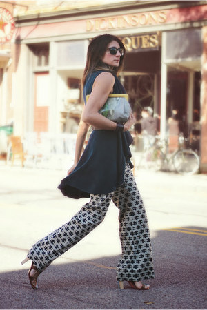 vintage pants - jess rizzuti bag - lauren and riley vest