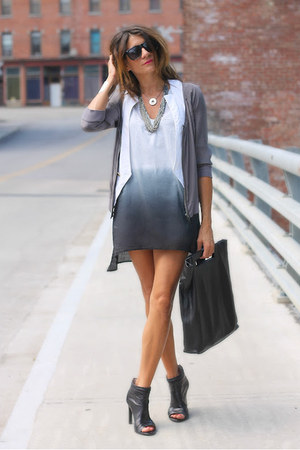 heather gray cover up SWIMSPOT dress - black acne bag