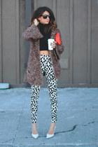 vintage sweater - H&M pants - white heels