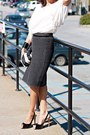 Dark-gray-knit-h-m-skirt-striped-h-m-bag-black-guess-heels