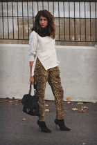 leopard banana republic pants - H&M sweatshirt