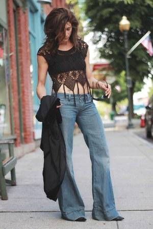 black All Saints top - Diesel jeans