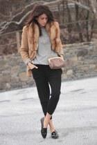 camel Brooks Brothers blazer - leopard jess rizzuti bag