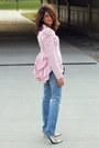Jeans-betsey-johnson-blazer-silver-tano-heels