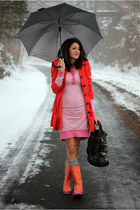 bubble gum Betsey Johnson dress - carrot orange H&M jacket