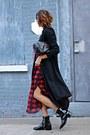 Red-plaid-volcom-skirt