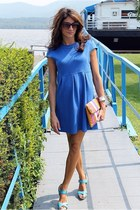 blue Kenar dress - sky blue Charles David heels