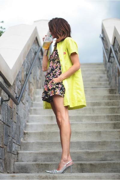 shirt dress Dickies dress - floral thrifted romper