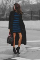 Kurt Geiger boots - dvf dress - banana republic coat