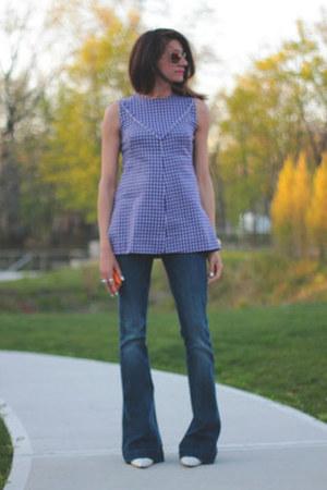 violet vintage top - 7fam jeans