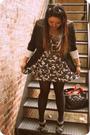 Gray-forever21-dress-black-white-house-black-market-blazer-black-kate-spade-