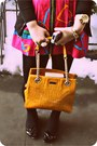 Mustard-kate-spade-bag-gold-owl-kenneth-jay-lane-necklace-hot-pink-zippered-